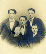 The Newhall Brothers – William & Edwin (top), Henry (middle), Walter & George (in front)